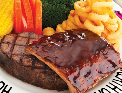 Prime Rib Steak Combo at Hog's Breath Cafe