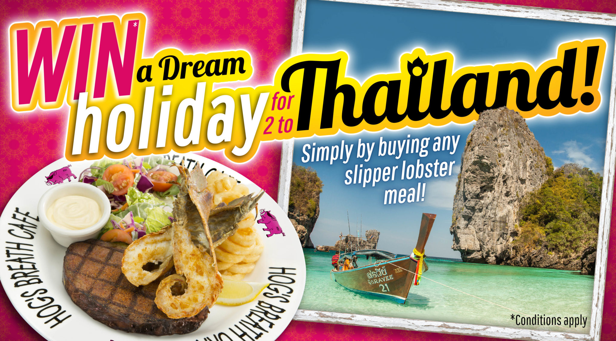 image of thailand beach trip you can win with Hog's Eaton & Hog's Mandurah